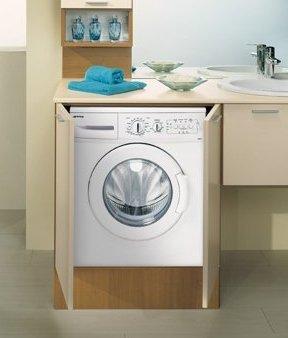 Mobile bagno con portalavatrice noce blu avio benigni mobili - Mobile lavandino lavatrice ...