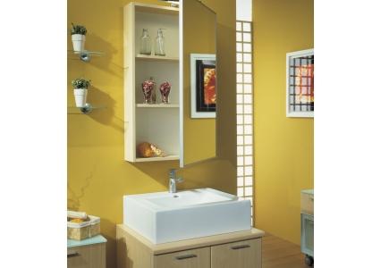 0041 a pensile con specchio applicato e profilo benigni for Specchio bagno profilo alluminio