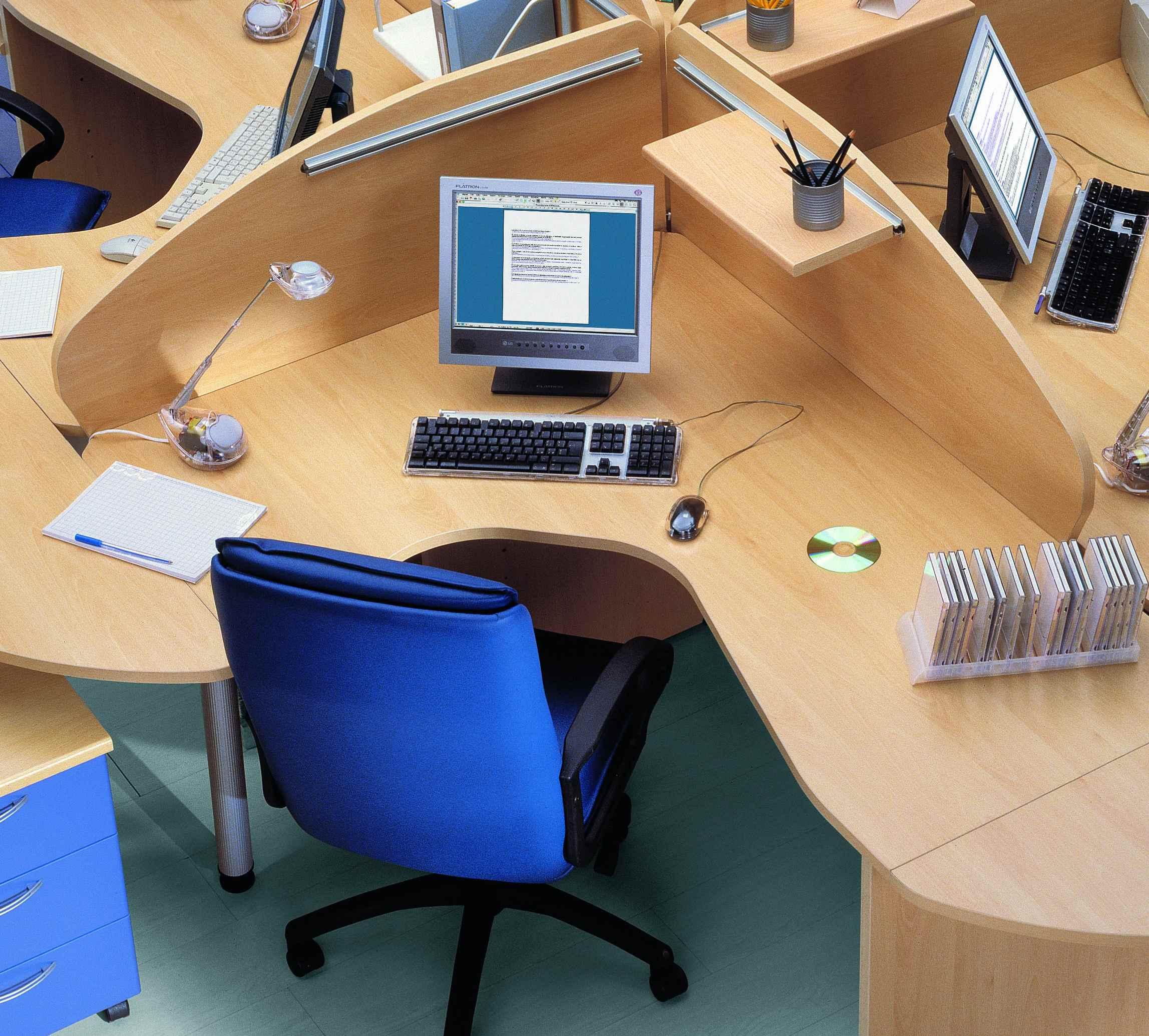 Ufficio ad isola noce grigio pietra benigni mobili - Da ufficio ad abitazione ...