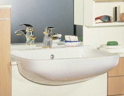 Mobile Bagno Con Lavandino Semincasso.Mobile Bagno In Noce E Con Doppio Lavabo Benigni Mobili