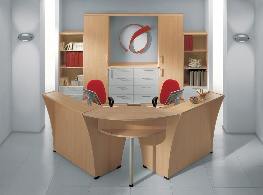 Mobili Da Ufficio Reception : Reception faggio grigio benigni mobili