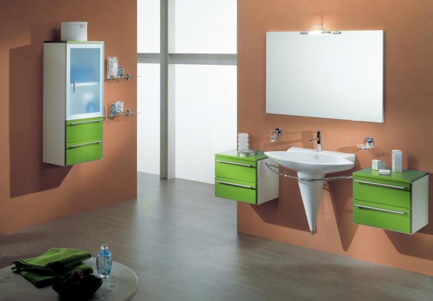 Mobili da bagno verde mobilia la tua casa - Bagno verde mela ...