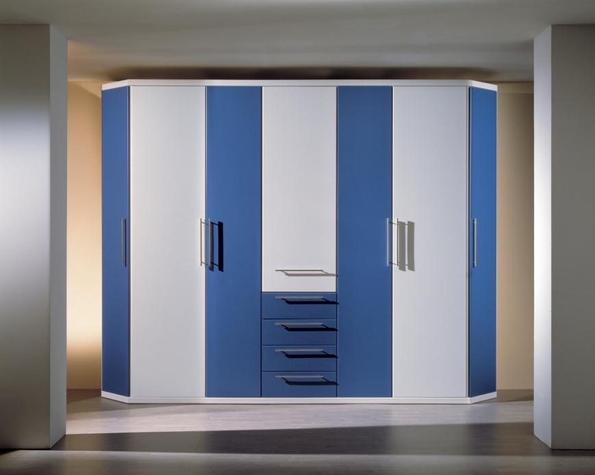 Armadio bianco blu avio benigni mobili for Armadio bagno bianco